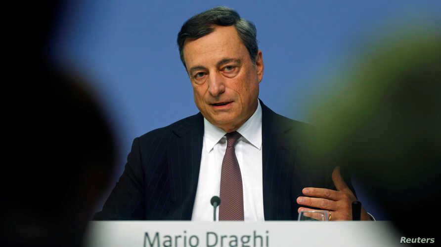 European Central Bank (ECB) President Mario Draghi attends a news conference at the ECB headquarters in Frankfurt, Germany, Sept. 8, 2016.
