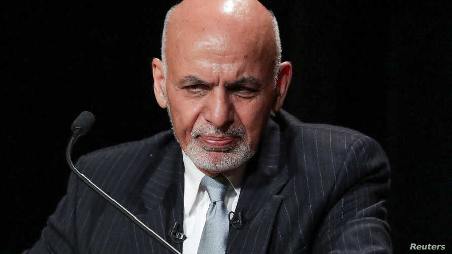 Afghanistan's President Ashraf Ghani speaks during a panel discussion at the Asia Society in New York City, Sept. 20, 2017.