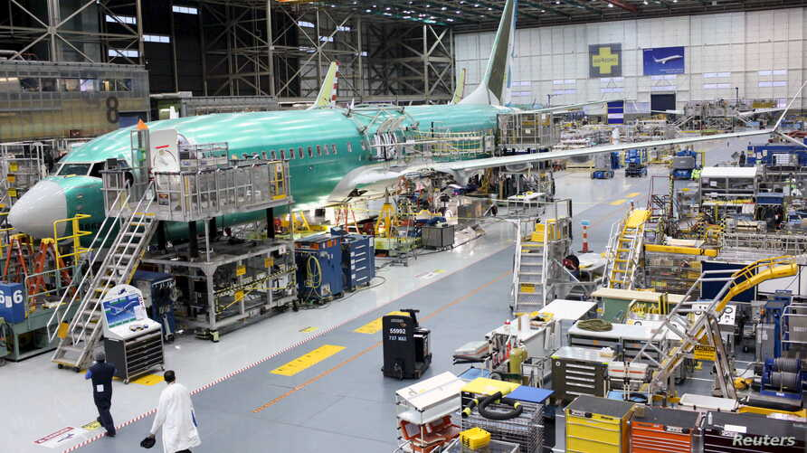 A Boeing 737 MAX plane is seen during a media tour of the Boeing 737 MAX at the Boeing plant in Renton, Washington, Dec.  7, 2015.