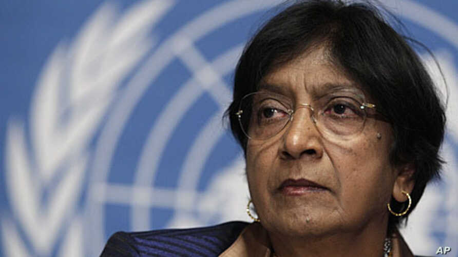 UN High Commissioner for Human Rights Navi Pillay (file photo)