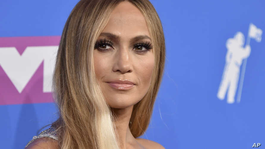 Jennifer Lopez arrives at the MTV Video Music Awards at Radio City Music Hall on Aug. 20, 2018, in New York.