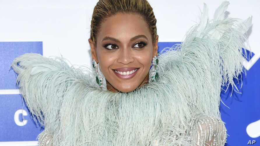 FILE - Beyonce Knowles arrives at the MTV Video Music Awards at Madison Square Garden, in New York.