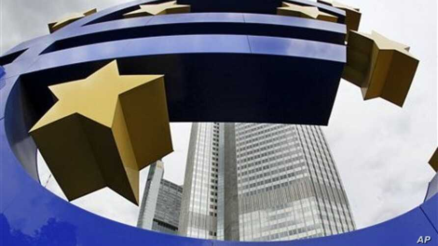 Euro sculpture in front of the European Central Bank (ECB) in Frankfurt, Germany (file photo)
