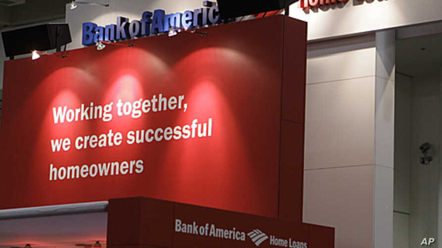 Bank of America booth at the Pacific Coast Builders Conference in San Francisco, California, June 23, 2011