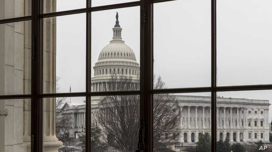 The Capitol is seen in Washington, Feb. 7, 2018.