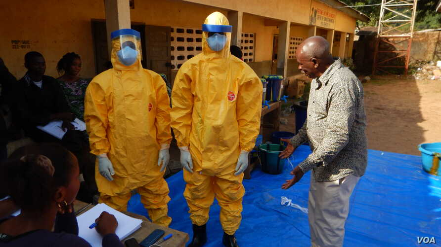 This is a Macenta burial team during the Ebola crisis.