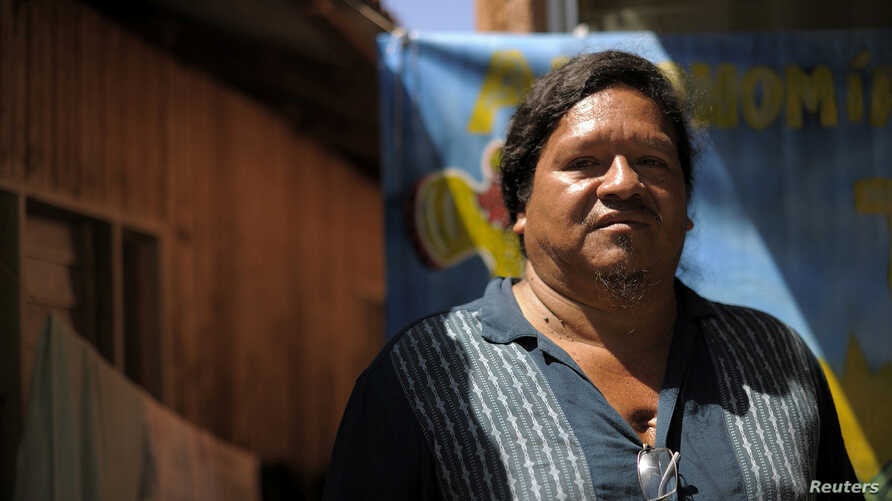 FILE - Sergio Rojas indigenous land activist is pictured during a interview in Salitre, Buenos Aires de Puntarenas, Costa Rica, Oct. 2, 2015.