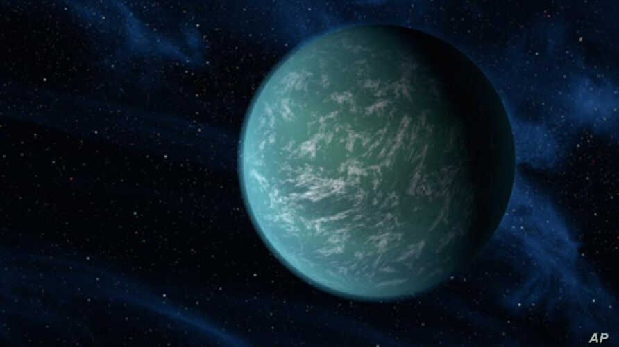 This artist's conception illustrates Kepler-22b, a planet known to comfortably circle in the habitable zone of a sun-like star. It is the first planet that NASA's Kepler mission has confirmed to orbit in a star's habitable zone - the region around a