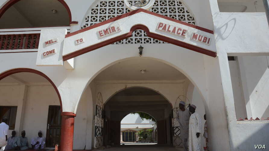 The emir's palace in Mubi was looted and partly destroyed. Entering the palace the Boko Haram militants looked for the emir's finest cars, especially Toyota Camry and Hilux. (Katarina Höije/VOA News)