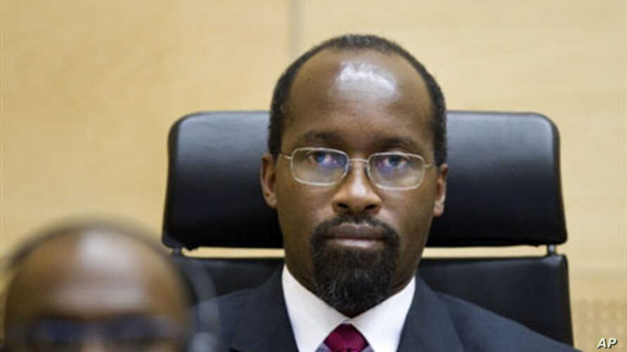 Rwandan rebel group leader Callixte Mbarushimana makes his initial appearance before the International Criminal Court (ICC) in The Hague, January 28, 2011