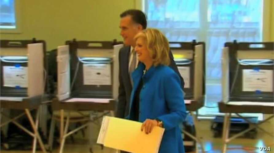 Romney Returns Home to Massachsetts to Vote
