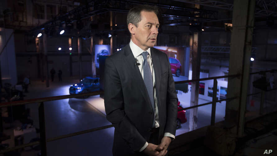 Ford of Europe Chairman Steven Armstrong is interviewed at a Ford event in Halfweg, near Amsterdam, Netherlands, April 2, 2019.