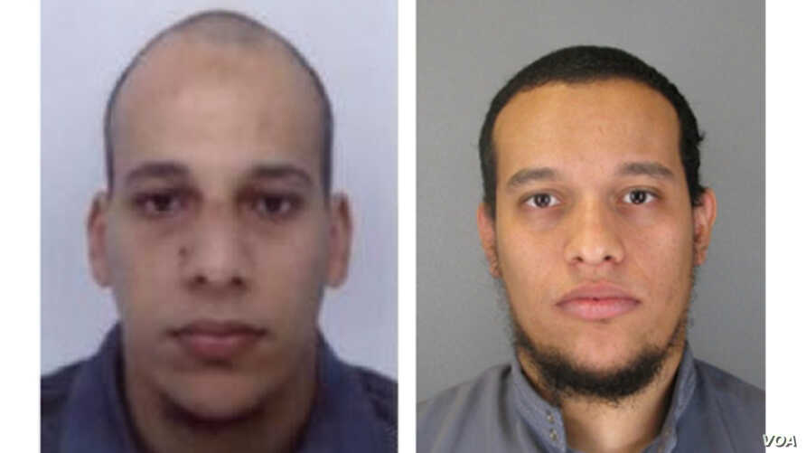 Chérif Kouachi, left, and Said Kouachi, right, are seen in