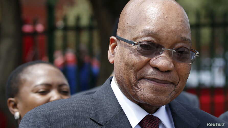 South Africa's President Jacob Zuma is pictured during his visit to the Lodewyk P. Spies Old Age Home in Eersterust, Pretoria, Dec. 15, 2015.