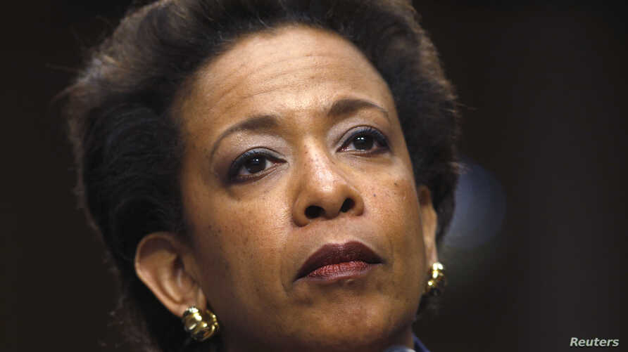 Loretta Lynch testifies during her Senate Judiciary Committee confirmation hearing to become U.S. attorney general, in Washington, Jan. 28, 2015.