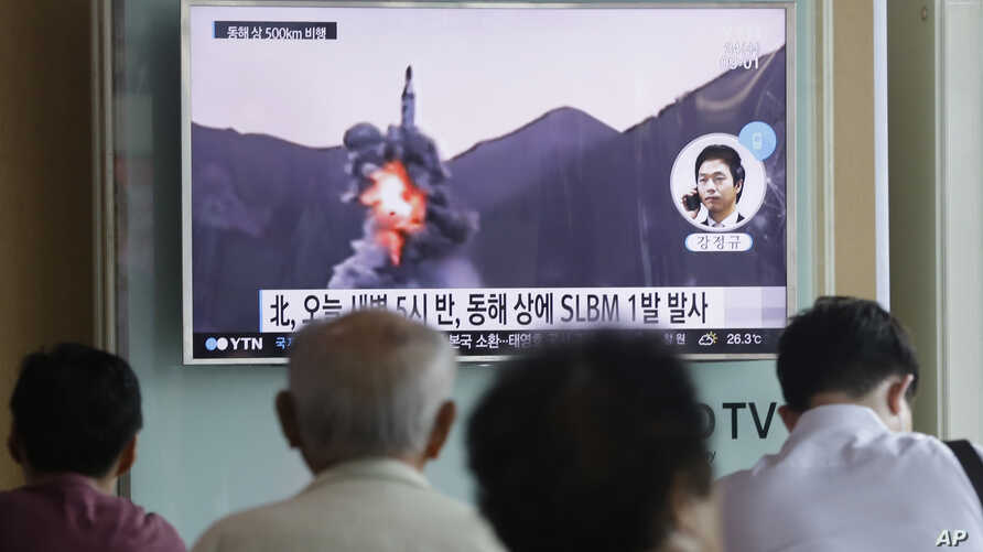 North Korea Test-fires Sub-launched Missile