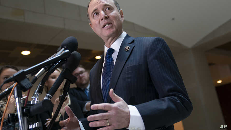 House Intelligence Committee Chairman Adam Schiff, D-Calif., speaks with reporters on Capitol Hill in Washington, Feb. 6, 2019.