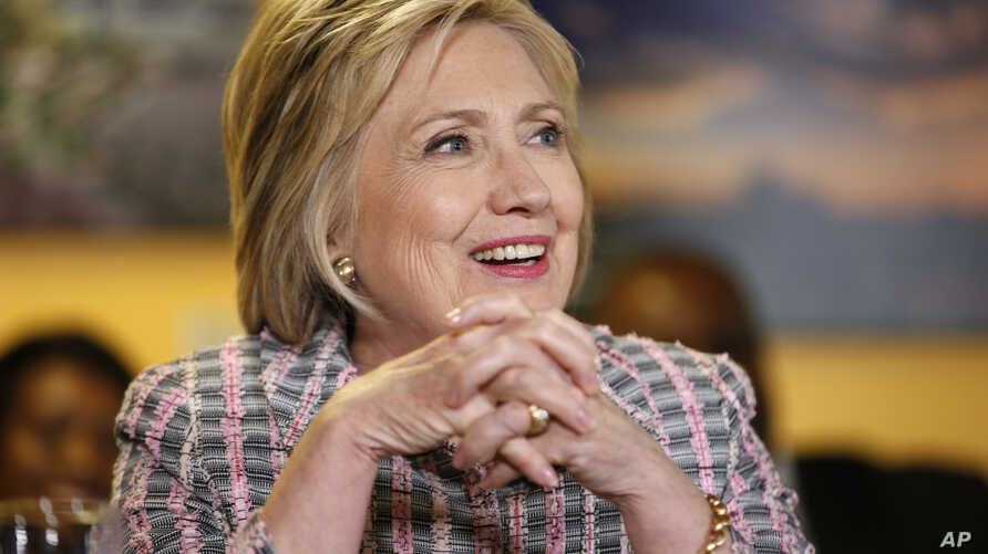 Democratic presidential candidate Hillary Clinton speaks at an event at the Good Day Cafe in Vallejo, California, June 5, 2016.