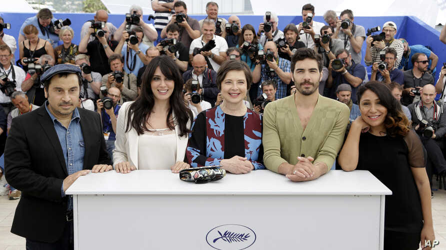 From left, jury members Panos H. Koutras, Nadine Labaki, Isabella Rossellini, Tahar Rahim and Haifaa Al-Mansour pose for photographers during a photo call for the jury of Un Certain Regard, at the 68th international film festival, Cannes, southern Fr