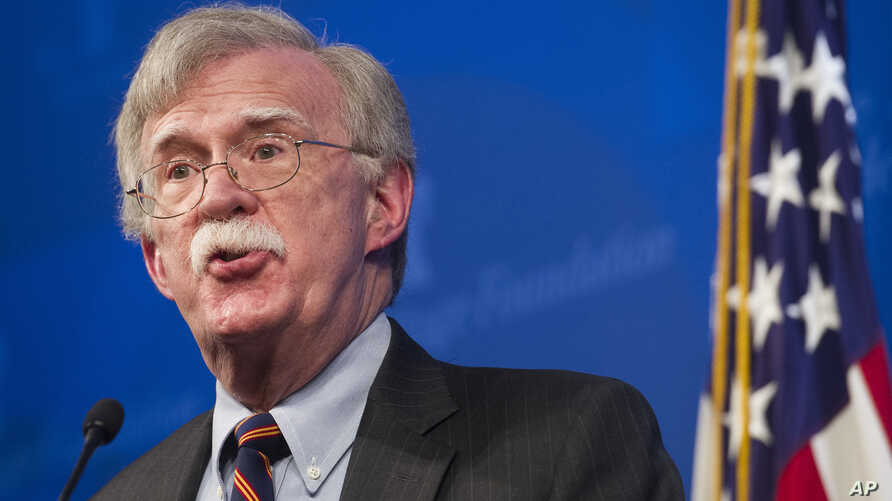 National Security Advisor John Bolton unveils the Trump Administration's Africa Strategy at the Heritage Foundation in Washington, Dec. 13, 2018.