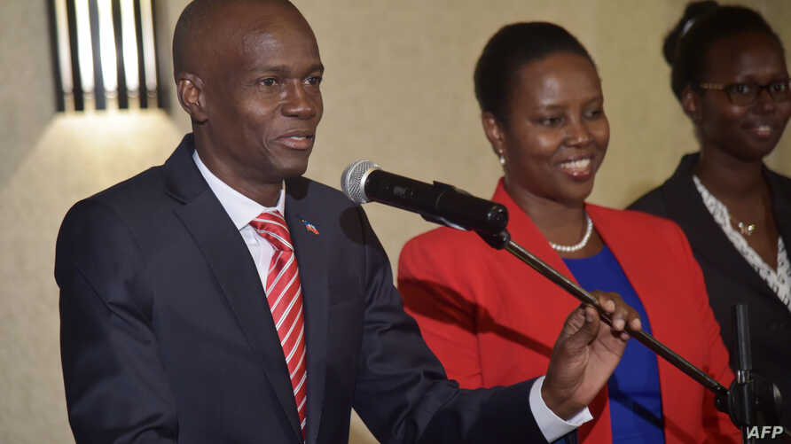 Haitian President-elect Jovenel Moise of PHTK political party, gives a speech, in Petion Ville, a suburb of the Haitian capital of Port-au-Prince on Jan. 3, 2017.