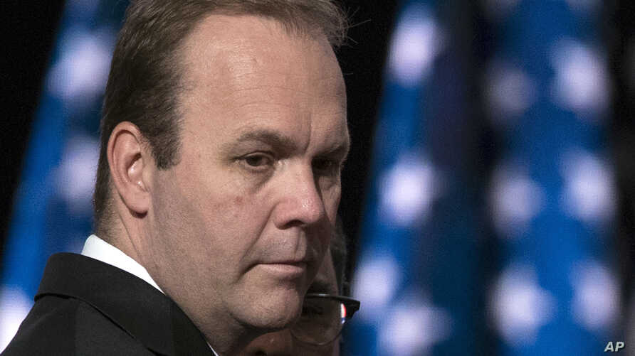 FILE - Rick Gates, then a campaign aide to Republican presidential candidate Donald Trump, is seen at the Republican National Convention in Cleveland, Ohio, July 21, 2016.