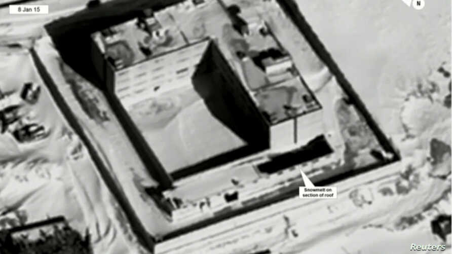 A satellite view of part of the Sednaya prison complex near Damascus, Syria is seen in a still image from a video briefing provided by the U.S. State Department on May 15, 2017.
