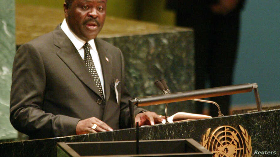 FILE - Lewis Brown, the Information Minister of Liberia.