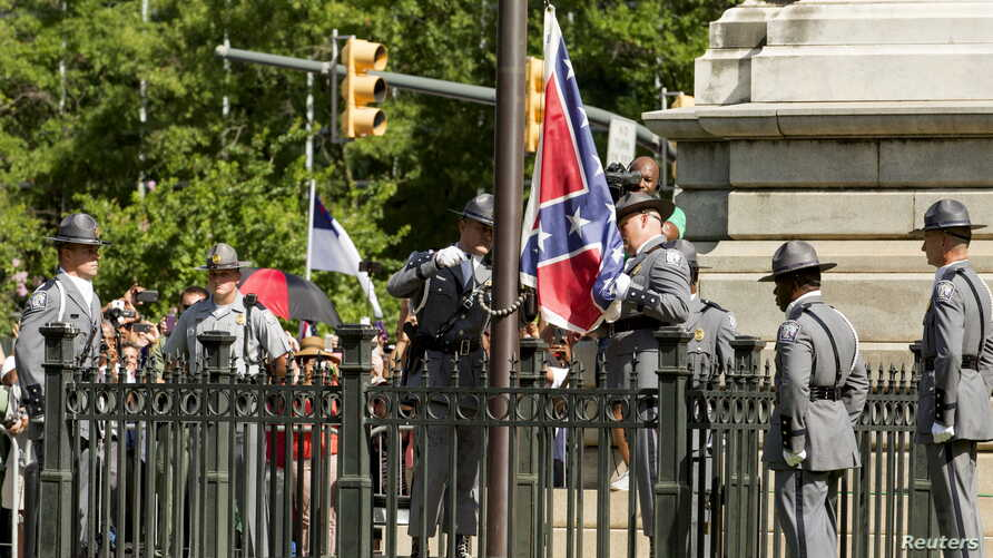 Confederate flag removed