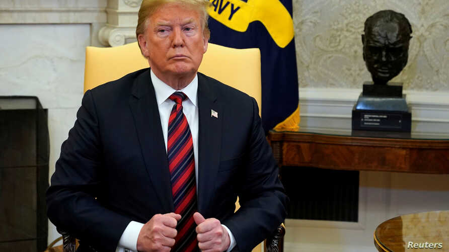 U.S. President Donald Trump in the Oval Office of the White House in Washington, May 26, 2018.