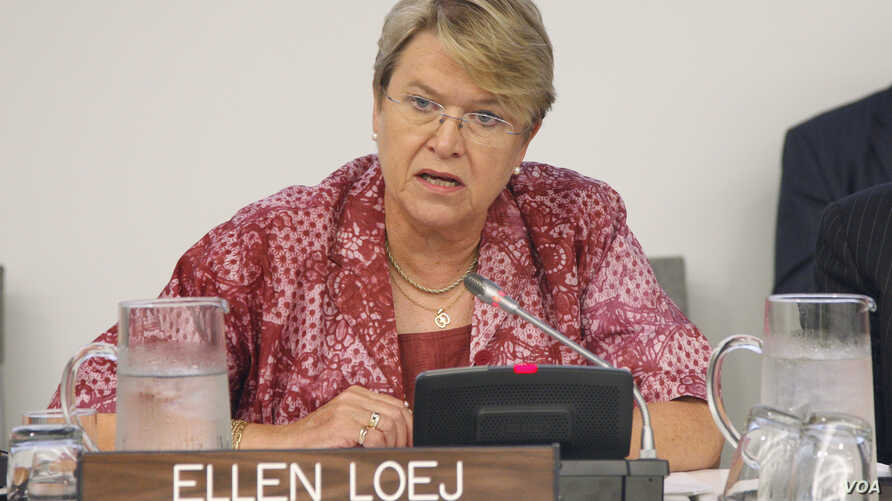 Ellen Margrethe Løj, the former head of the U.N. Mission in Liberia, has been appointed as the new head of the U.N. Mission in South Sudan, succeeding Hilde Johnson who left the post this month after serving for three years.