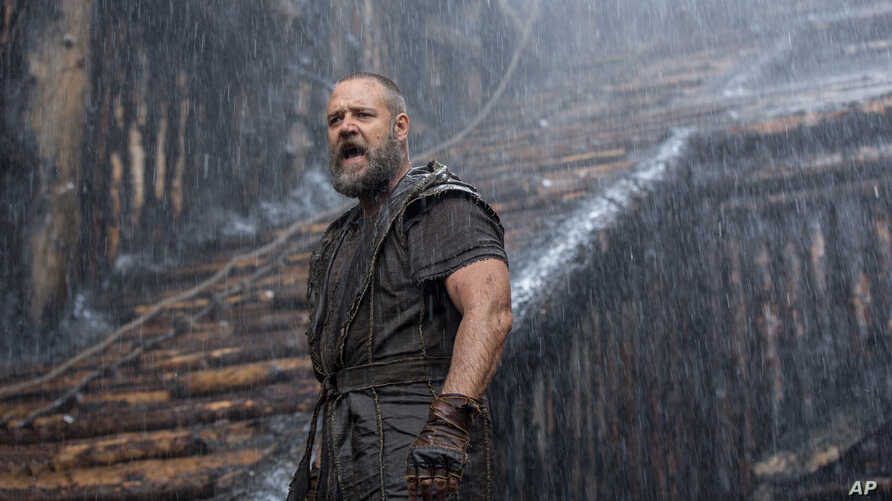 This image released by Paramount Pictures shows Russell Crowe in a scene from 'Noah.'