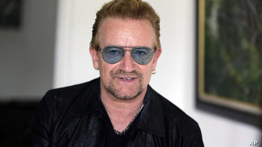 FILE -  Irish rock star Bono speaks during an interview with The Associated Press.