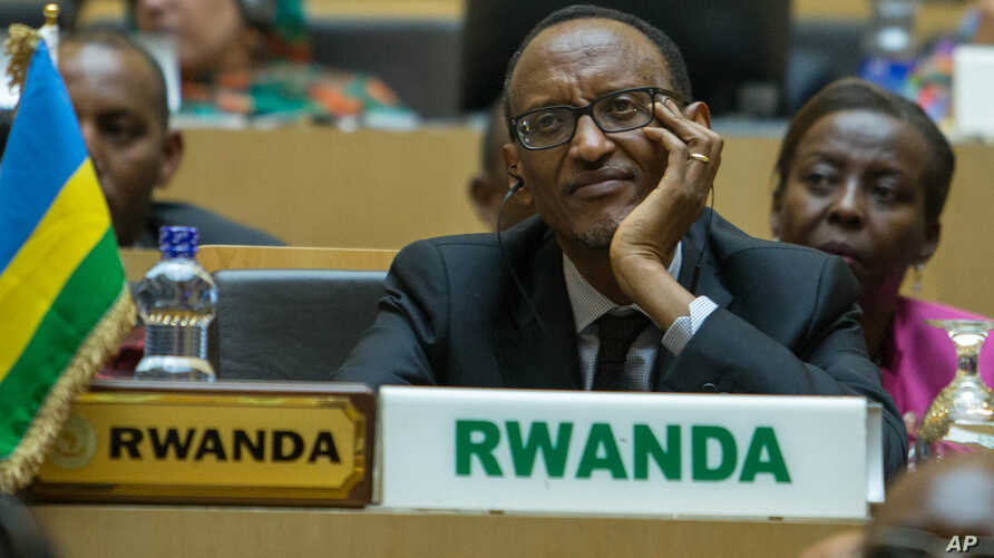 FILE - Rwanda president Paul Kagame attends the opening ceremony of the 26 ordinary of the African Summit in Ethiopian capital Addis Ababa.
