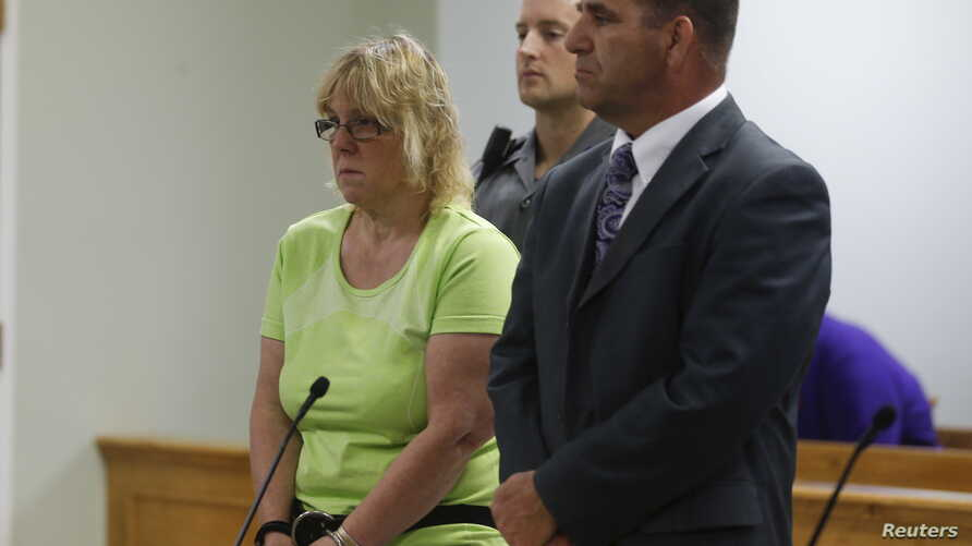 Joyce Mitchell, accused of smuggling contraband into the prison from which two convicts escaped last week, is arraigned in City Court in Plattsburgh, New York, June 12, 2015.