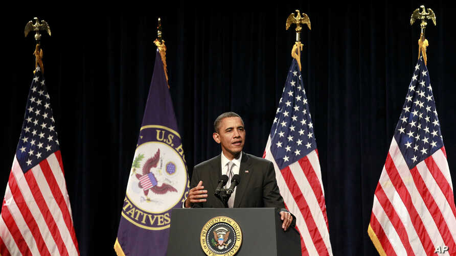 President Barack Obama speaks at the House Democratic Issues Conference, Jan. 27, 2012, in Cambridge, Md.