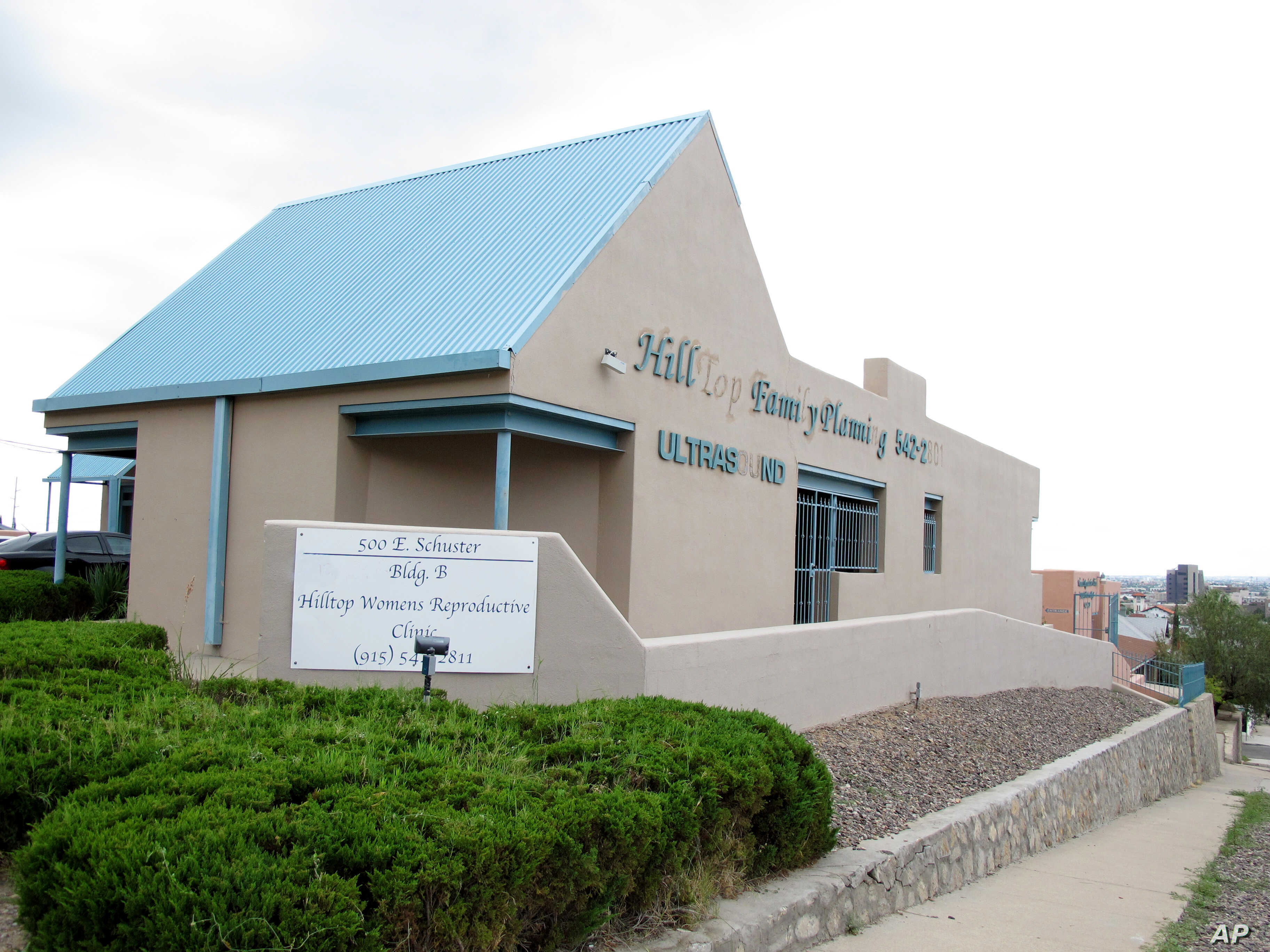 FILE - A federal judge ruled against a law that would have closed Texas abortion facilities such as the Hilltop Women's Reproductive Clinic in El Paso.