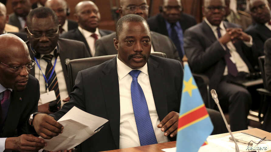 FILE - Democratic Republic of Congo's President Joseph Kabila attends a two-day meeting of leaders from the Southern African Development Community (SADC) in Pretoria, Nov. 4, 2013.