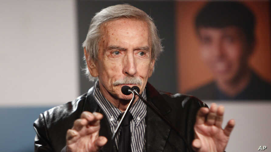 FILE - Playwright Edward Albee is seen at the Point Foundation Honors New York Gala in New York City, April 16, 2012.