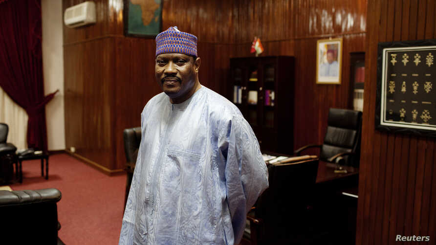 President of the National Assembly and former prime minister Hama Amadou poses for a picture at his office in the National Assembly in Niamey, Niger,Sept. 16, 2013.