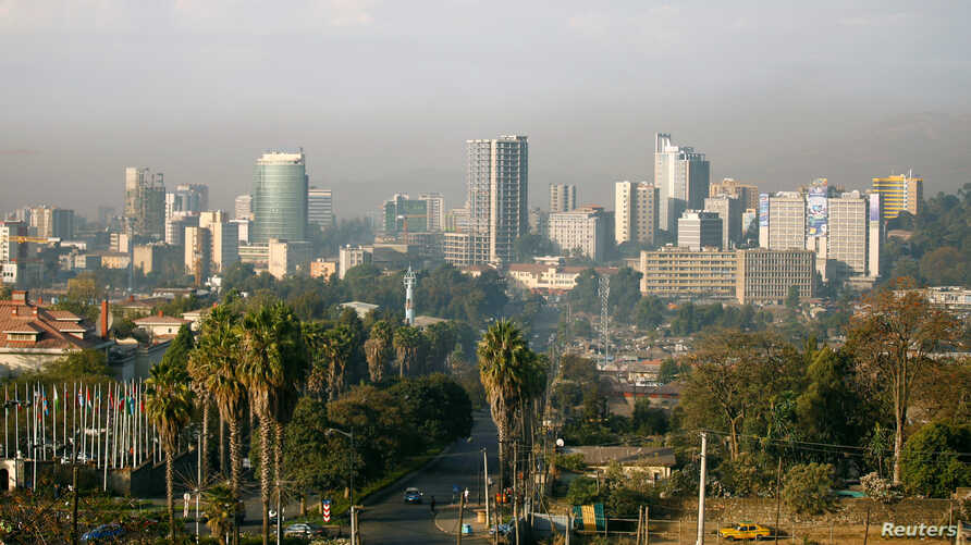 FILE - A general view shows the cityscape of Ethiopia's capital Addis Ababa, Jan. 29, 2017.