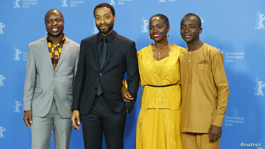 "Director and screenwriter Chiwetel Ejiofor and actors William Kamkwamba, Maxwell Simba, Aissa Maiga pose during a photocall to promote the movie ""The Boy Who Harnessed the Wind"" at the 69th Berlinale International Film Festival in Berlin, Germany, Fe"