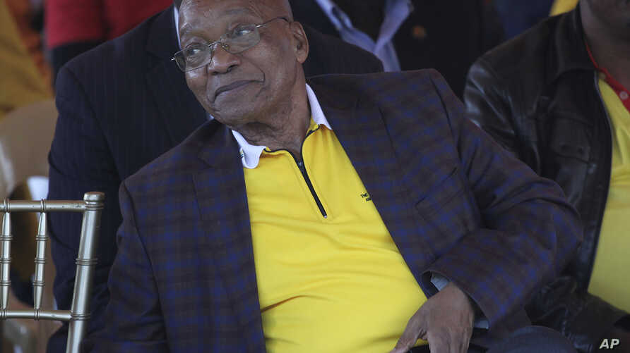 South African President Jacob Zuma attends a May Day rally in Bloemfontein, South Africa, May 1, 2017.