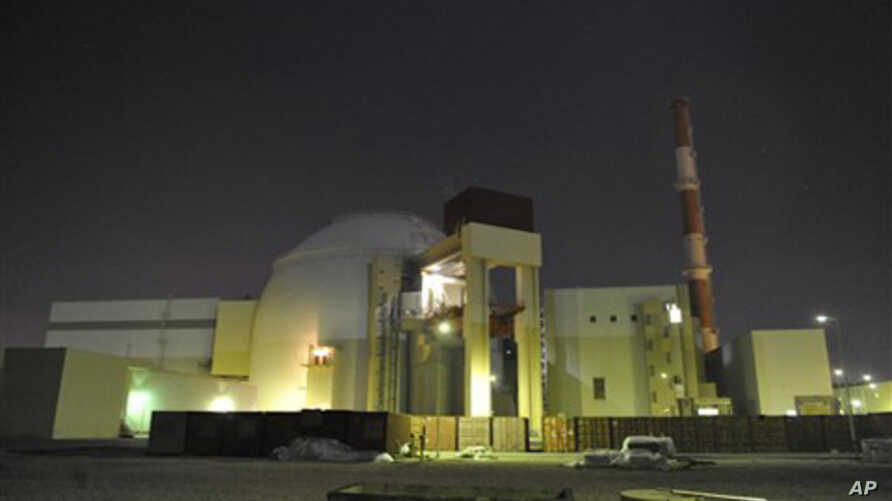 In this photo released by the semi-official Iranian Students News Agency (ISNA), the reactor building of Iran's Bushehr Nuclear Power Plant is seen, just outside the port city of Bushehr, Iran, November 30, 2009.