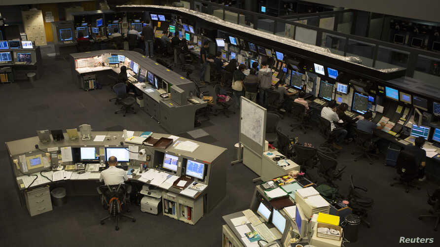 FILE - A general view shows the Air Traffic Control Center at the Hong Kong Airport.