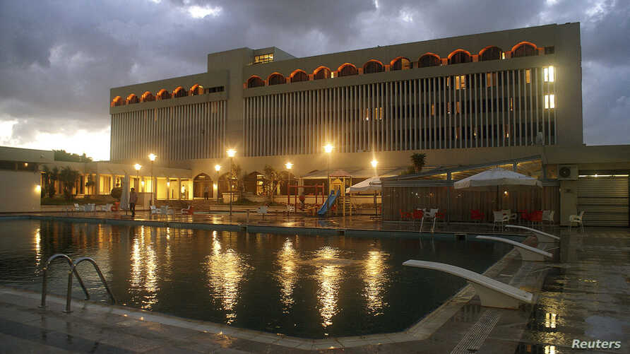FILE - A general view of the Dar al Salam, a five-star hotel being used by members of the House of Representatives, in Tobruk, Sept. 28, 2014.