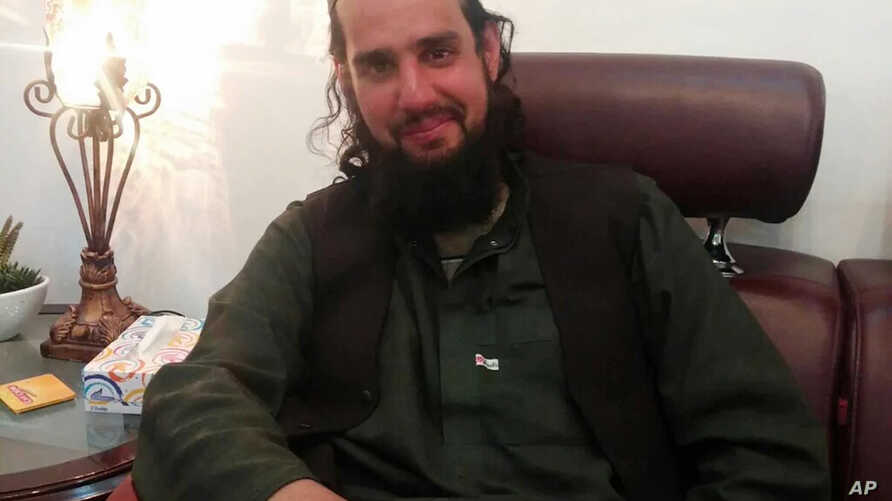In this photo released Tuesday, March 8, 2016 by Inter Services Public Relations shows Shahbaz Taseer, son of slain Pakistani governor Salman Taseer sits in Quetta, Pakistan.