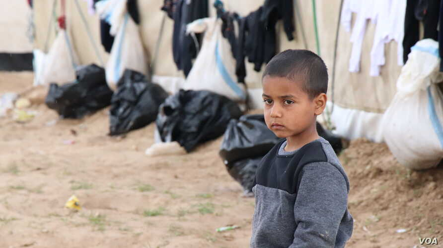 The International Rescue Committee says 108 children have died in or on their way to the al-Hol camp in Syria in recent weeks, after evacuating Baghuz, the last IS stronghold in Syria, pictured March 4, 2019, in al-Hol camp, Syria.