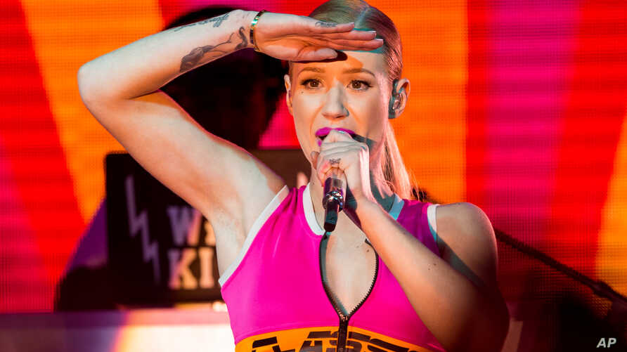 Iggy Azalea performs on stage during the Pandora Presents The 2014 Summer Party at The Santa Monica Pier on Aug. 09, 2014, in Santa Monica, California.