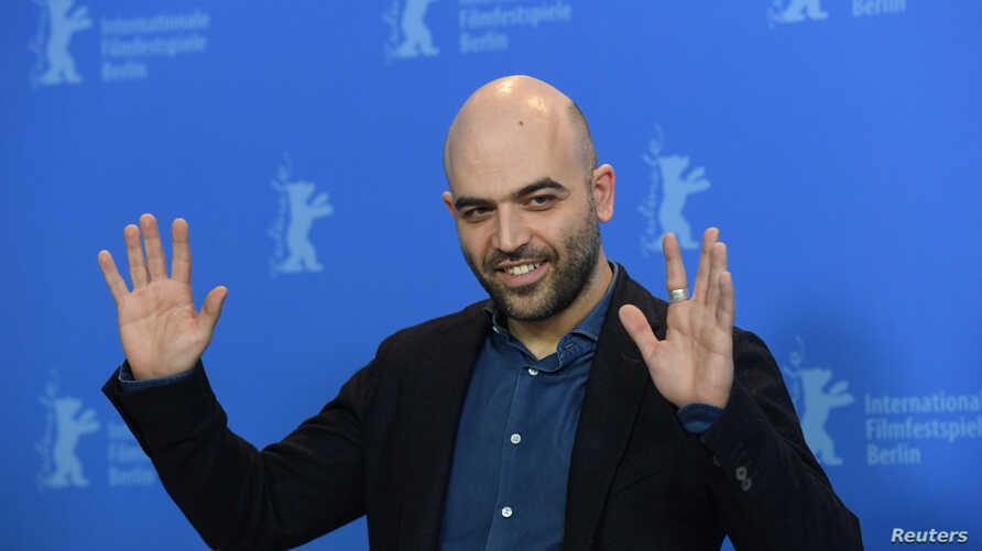 "Screenwriter and author Roberto Saviano poses during a photocall to promote the movie ""Piranhas"" at the 69th Berlin International Film Festival in Berlin, Germany, Feb. 12, 2019."
